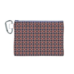 Cute Pretty Elegant Pattern Canvas Cosmetic Bag (M)