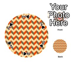 Modern Retro Chevron Patchwork Pattern  Playing Cards 54 (Round)