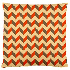 Modern Retro Chevron Patchwork Pattern  Large Cushion Cases (one Side)