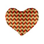 Modern Retro Chevron Patchwork Pattern  Standard 16  Premium Flano Heart Shape Cushions Back