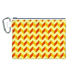 Modern Retro Chevron Patchwork Pattern  Canvas Cosmetic Bag (L)