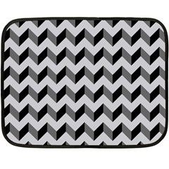 Modern Retro Chevron Patchwork Pattern  Fleece Blanket (Mini)