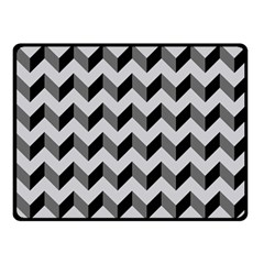Modern Retro Chevron Patchwork Pattern  Fleece Blanket (Small)