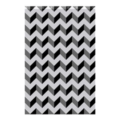 Modern Retro Chevron Patchwork Pattern  Shower Curtain 48  X 72  (small)