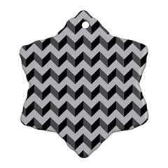 Modern Retro Chevron Patchwork Pattern  Snowflake Ornament (2 Side)