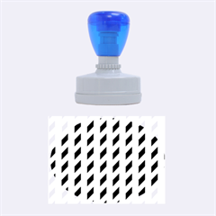 Modern Retro Chevron Patchwork Pattern Rubber Oval Stamps