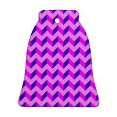 Modern Retro Chevron Patchwork Pattern Ornament (bell)