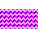 Modern Retro Chevron Patchwork Pattern Laugh Live Love 3D Greeting Card (8x4)  Front