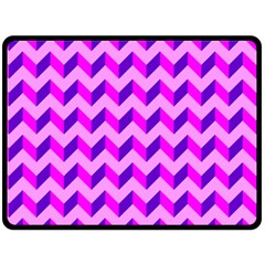 Modern Retro Chevron Patchwork Pattern Double Sided Fleece Blanket (Large)
