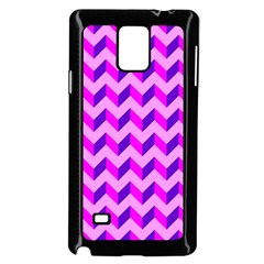 Modern Retro Chevron Patchwork Pattern Samsung Galaxy Note 4 Case (black)