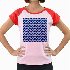 Modern Retro Chevron Patchwork Pattern Women s Cap Sleeve T Shirt