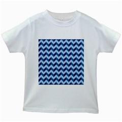 Modern Retro Chevron Patchwork Pattern Kids White T-Shirts