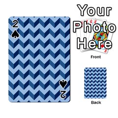 Modern Retro Chevron Patchwork Pattern Playing Cards 54 Designs