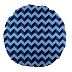 Modern Retro Chevron Patchwork Pattern Large 18  Premium Flano Round Cushions