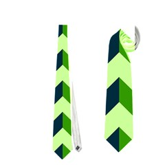Modern Retro Chevron Patchwork Pattern Neckties (One Side)