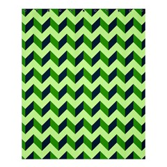 Modern Retro Chevron Patchwork Pattern Shower Curtain 60  X 72  (medium)