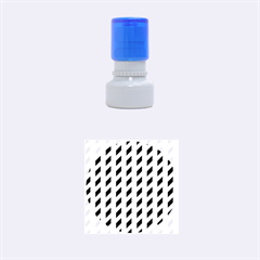 Modern Retro Chevron Patchwork Pattern Rubber Round Stamps (Small)
