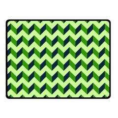 Modern Retro Chevron Patchwork Pattern Double Sided Fleece Blanket (small)