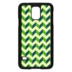 Modern Retro Chevron Patchwork Pattern Samsung Galaxy S5 Case (black)