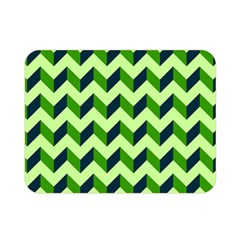 Modern Retro Chevron Patchwork Pattern Double Sided Flano Blanket (mini)