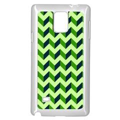 Modern Retro Chevron Patchwork Pattern Samsung Galaxy Note 4 Case (white)