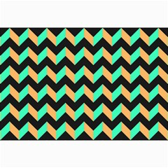 Modern Retro Chevron Patchwork Pattern Collage 12  X 18
