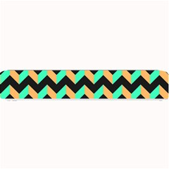 Modern Retro Chevron Patchwork Pattern Small Bar Mats