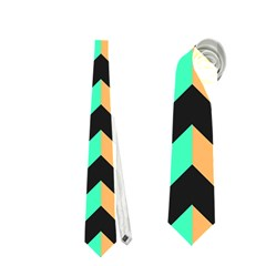 Modern Retro Chevron Patchwork Pattern Neckties (one Side)