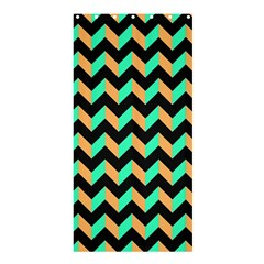 Modern Retro Chevron Patchwork Pattern Shower Curtain 36  X 72  (stall)