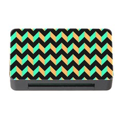 Modern Retro Chevron Patchwork Pattern Memory Card Reader with CF