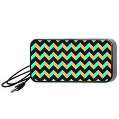 Modern Retro Chevron Patchwork Pattern Portable Speaker (black)