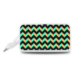 Modern Retro Chevron Patchwork Pattern Portable Speaker (white)