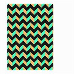 Modern Retro Chevron Patchwork Pattern Small Garden Flag (two Sides)