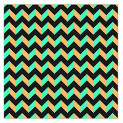 Modern Retro Chevron Patchwork Pattern Large Satin Scarf (Square)