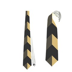 Modern Retro Chevron Patchwork Pattern Neckties (Two Side)