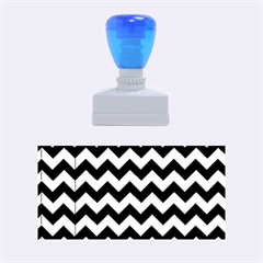 Modern Retro Chevron Patchwork Pattern Rubber Stamps (medium)