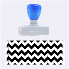 Modern Retro Chevron Patchwork Pattern Rubber Stamps (large)