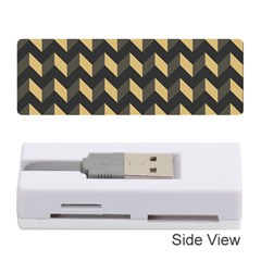 Modern Retro Chevron Patchwork Pattern Memory Card Reader (Stick)