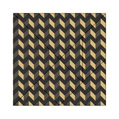 Modern Retro Chevron Patchwork Pattern Acrylic Tangram Puzzle (6  x 6 )