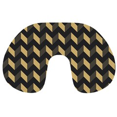 Modern Retro Chevron Patchwork Pattern Travel Neck Pillows