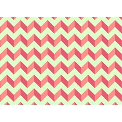 Modern Retro Chevron Patchwork Pattern Birthday Cake 3D Greeting Card (7x5)