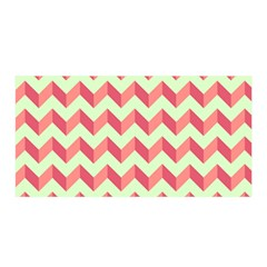 Modern Retro Chevron Patchwork Pattern Satin Wrap
