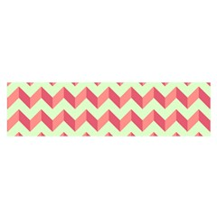 Modern Retro Chevron Patchwork Pattern Satin Scarf (Oblong)