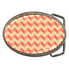 Modern Retro Chevron Patchwork Pattern Belt Buckles