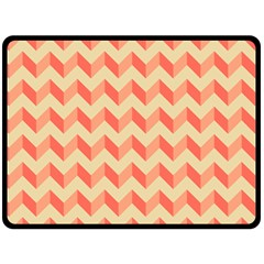 Modern Retro Chevron Patchwork Pattern Fleece Blanket (Large)