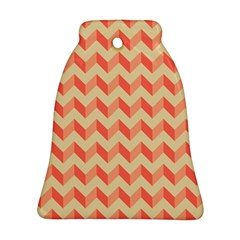 Modern Retro Chevron Patchwork Pattern Bell Ornament (2 Sides)