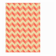 Modern Retro Chevron Patchwork Pattern Large Garden Flag (Two Sides)