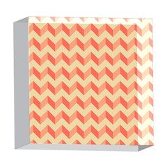 Modern Retro Chevron Patchwork Pattern 5  x 5  Acrylic Photo Blocks