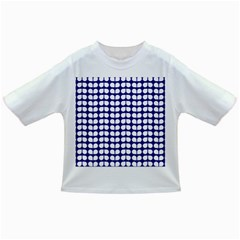 Blue And White Leaf Pattern Infant/Toddler T-Shirts