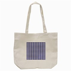 Blue And White Leaf Pattern Tote Bag (Cream)